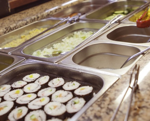 Sushi- en saladebar
